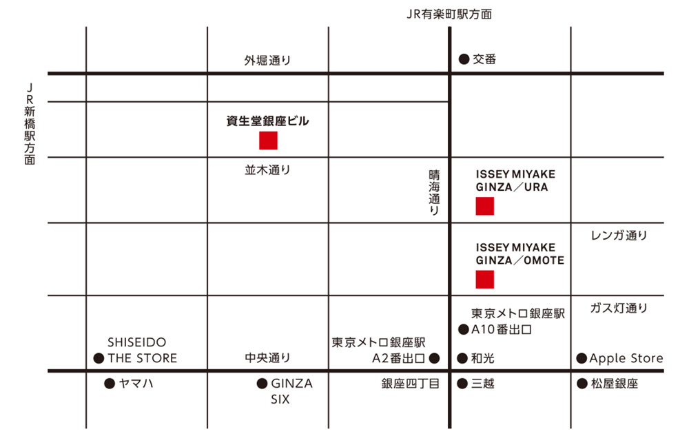 GINZA map